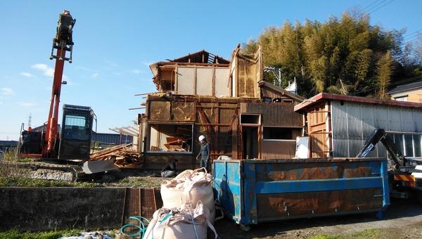 N様邸、解体工事